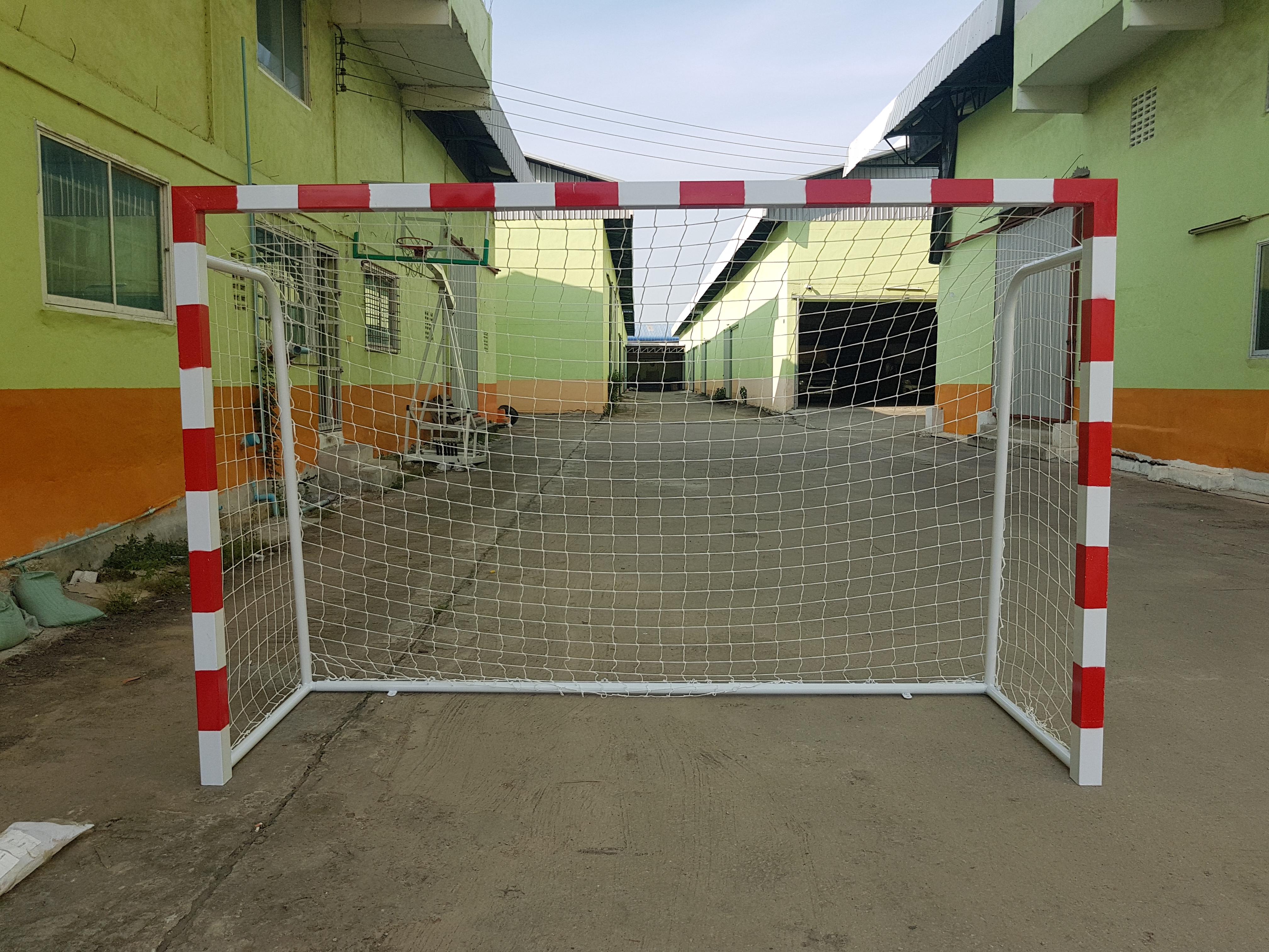 ข้อต่อประตูฟุตซอล ขาว แดง 8x8